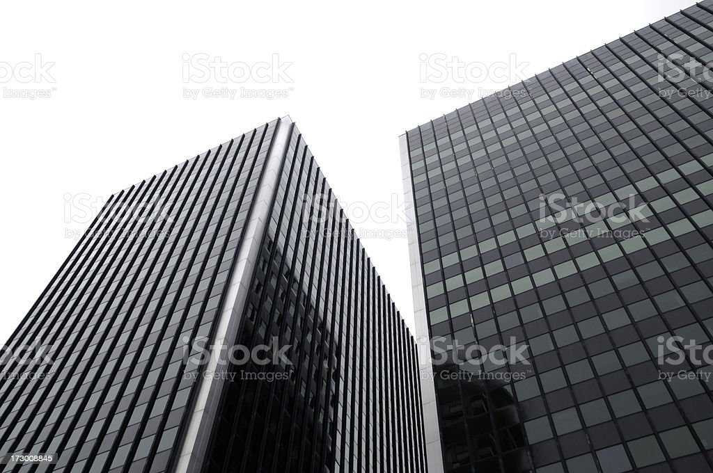 Skyscrapers on White royalty-free stock photo