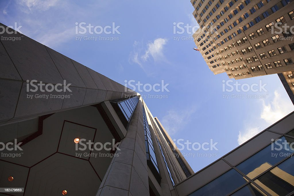 Skyscrapers over blue sky royalty-free stock photo