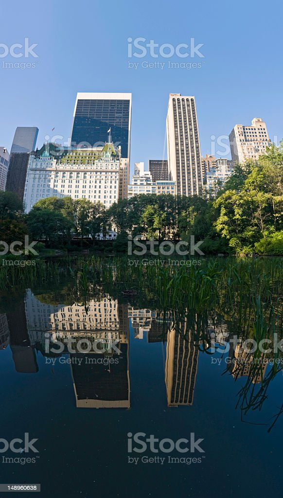 Skyscrapers reflected in blue NY royalty-free stock photo