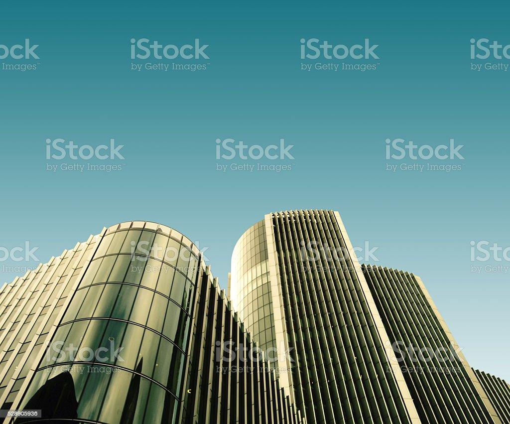 Skyscrapers skyline view of London city stock photo