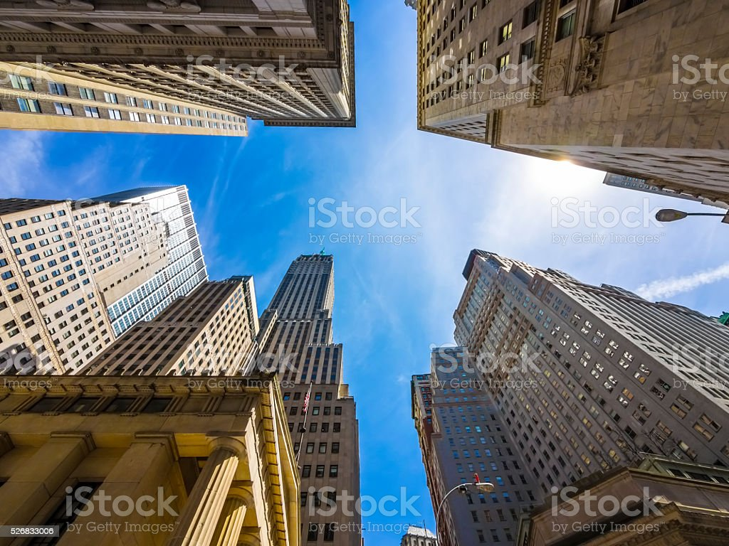 Skyscrapers/Buildings in New York City stock photo
