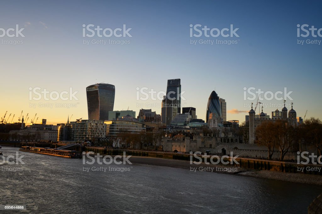 Skyscrappers London stock photo