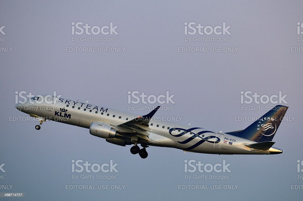 KLM Skyteam airlines stock photo