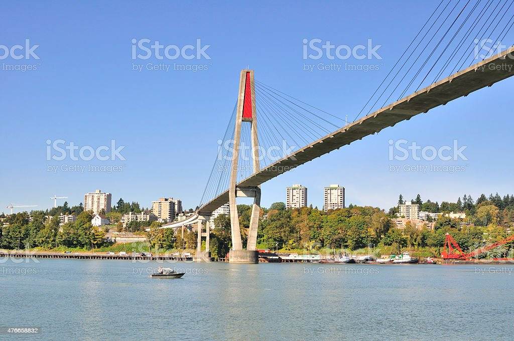 skytrain bridge stock photo