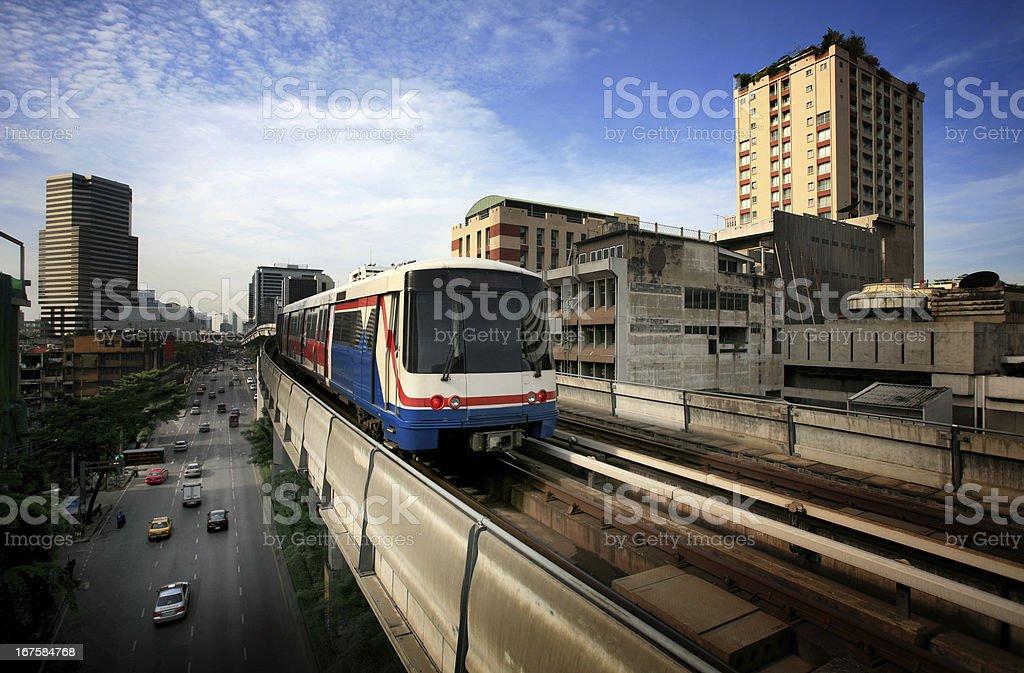 Sky-Train in Bangkok stock photo