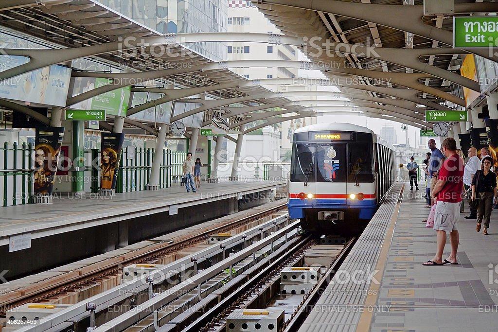 BTS Sky-train in Bangkok royalty-free stock photo