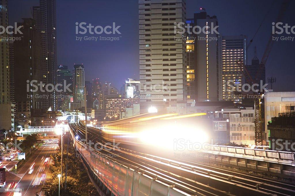 Skytrain in Bangkok, Thailand stock photo