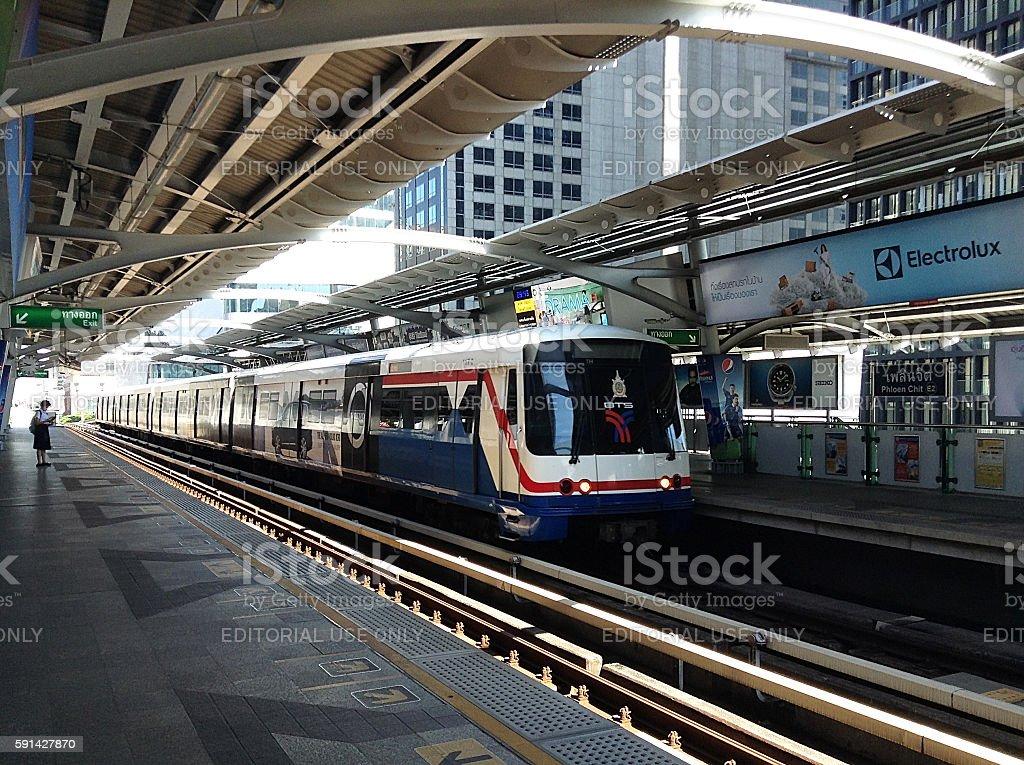 BTS Skytrain underground station stock photo
