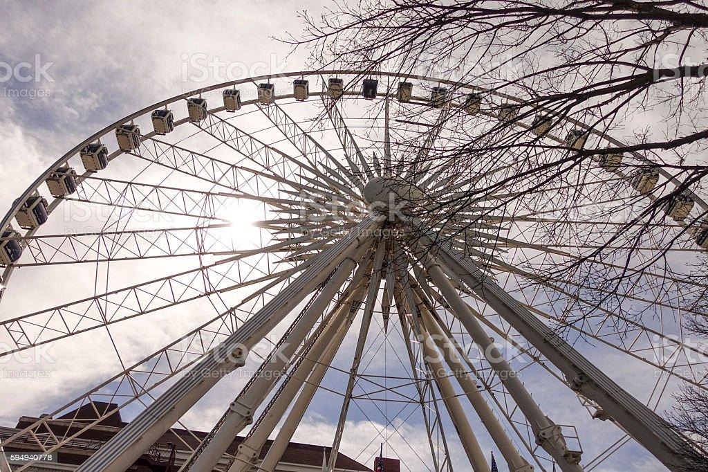 Skyview Atlanta - big Ferris Wheel  Downtown Lizenzfreies stock-foto
