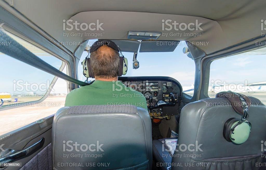 Skywagon Aircraft Pilot stock photo
