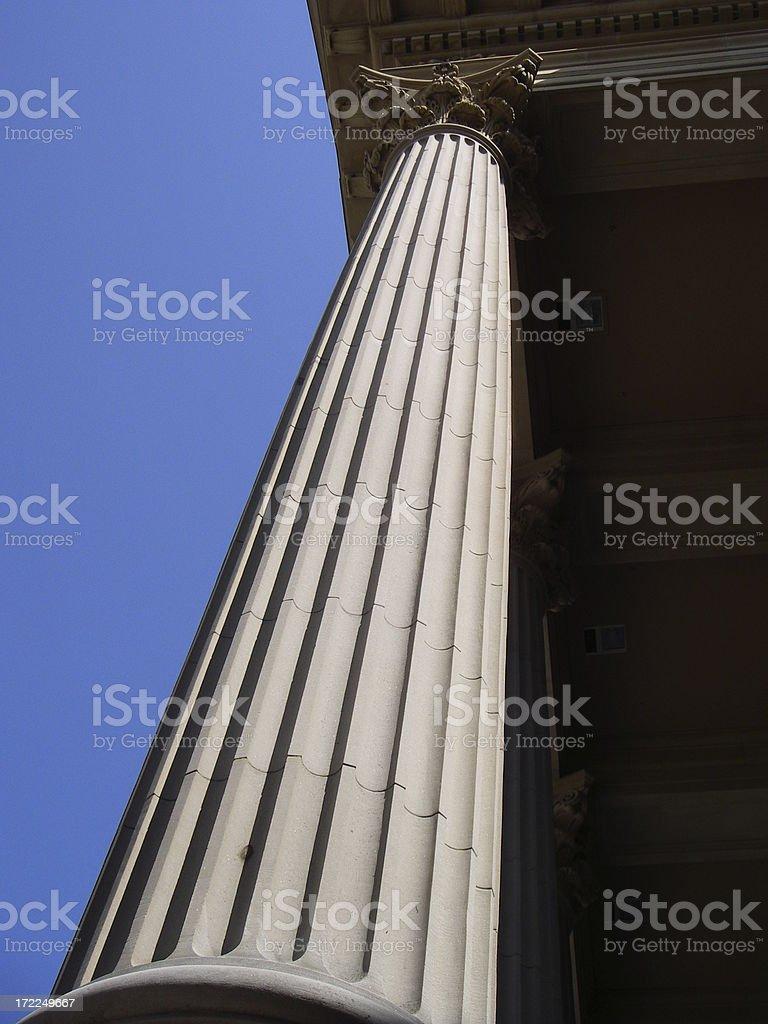 Skyward Corinthian Column royalty-free stock photo