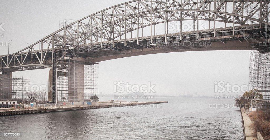 Skyway Bridge stock photo