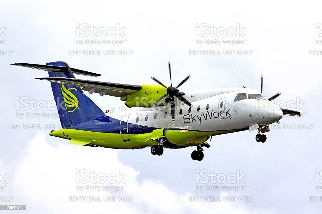 SkyWork Airlines Dornier 328 stock photo