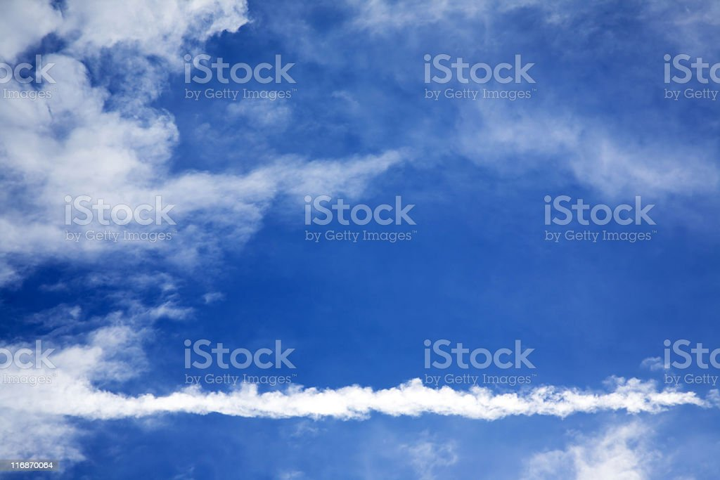 Skywriting. Color Image royalty-free stock photo