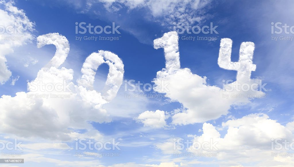 Skywriting on the display with sky royalty-free stock photo