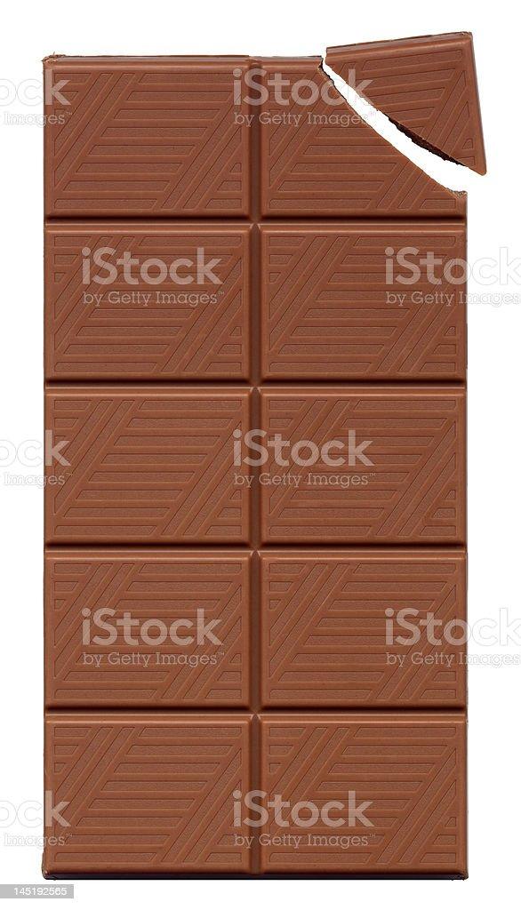 Slab Of Chocolate stock photo