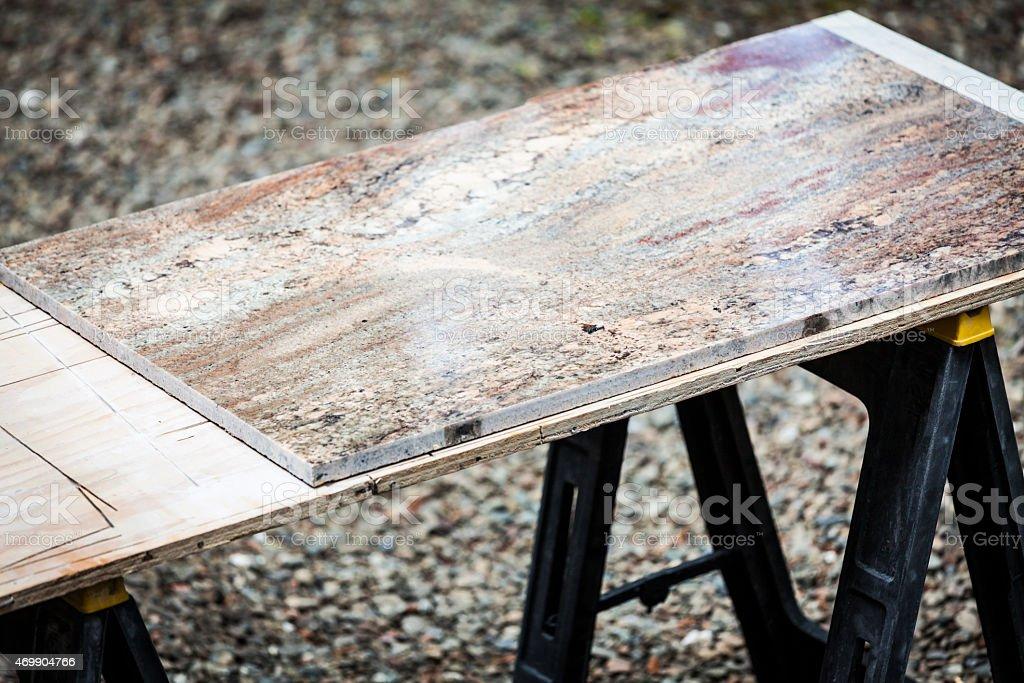 Slab of granite stock photo