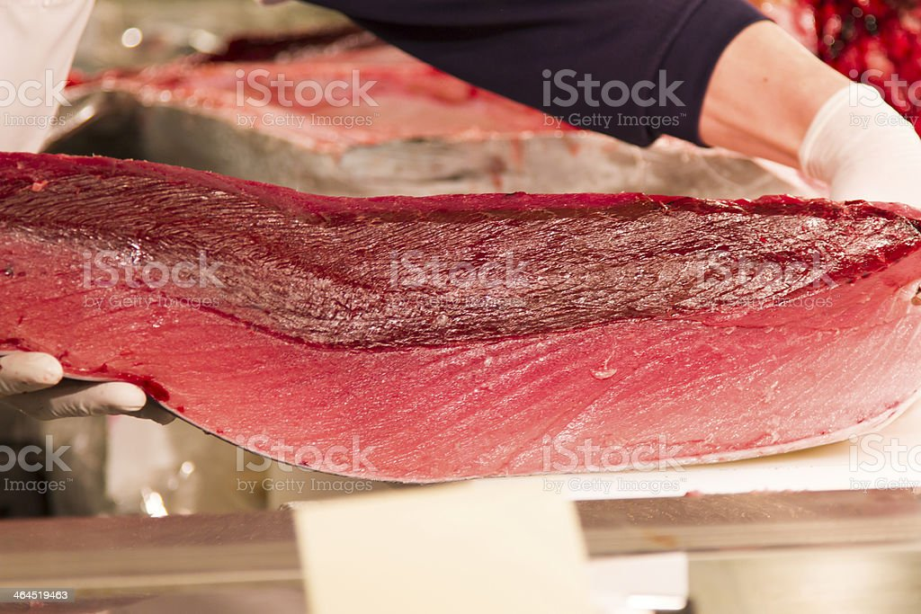 Slab of Tuna royalty-free stock photo