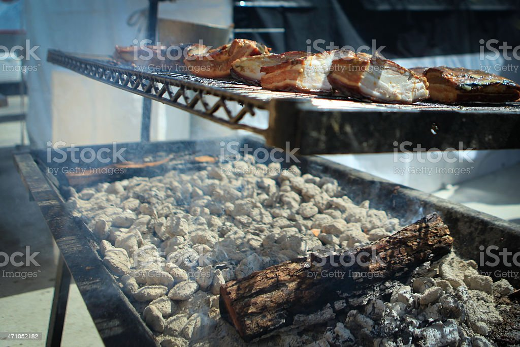 Slabs of Meat stock photo