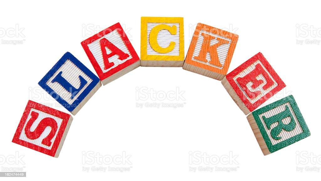 Slacker stock photo