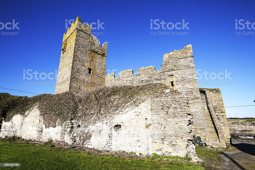 Slade Castle in County Wexford, Ireland stock photo