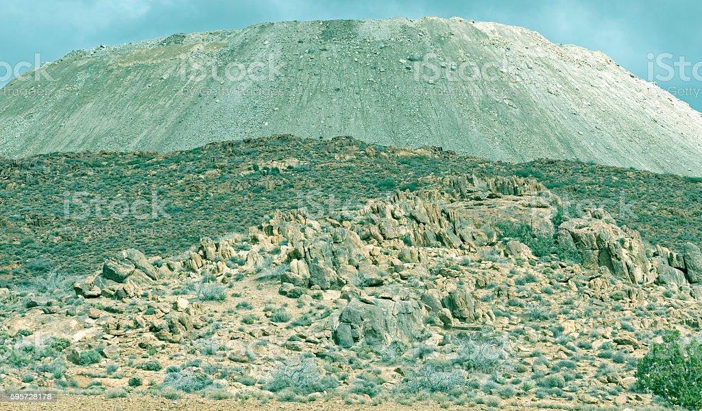 Slag at mine in northwestern Arizona stock photo