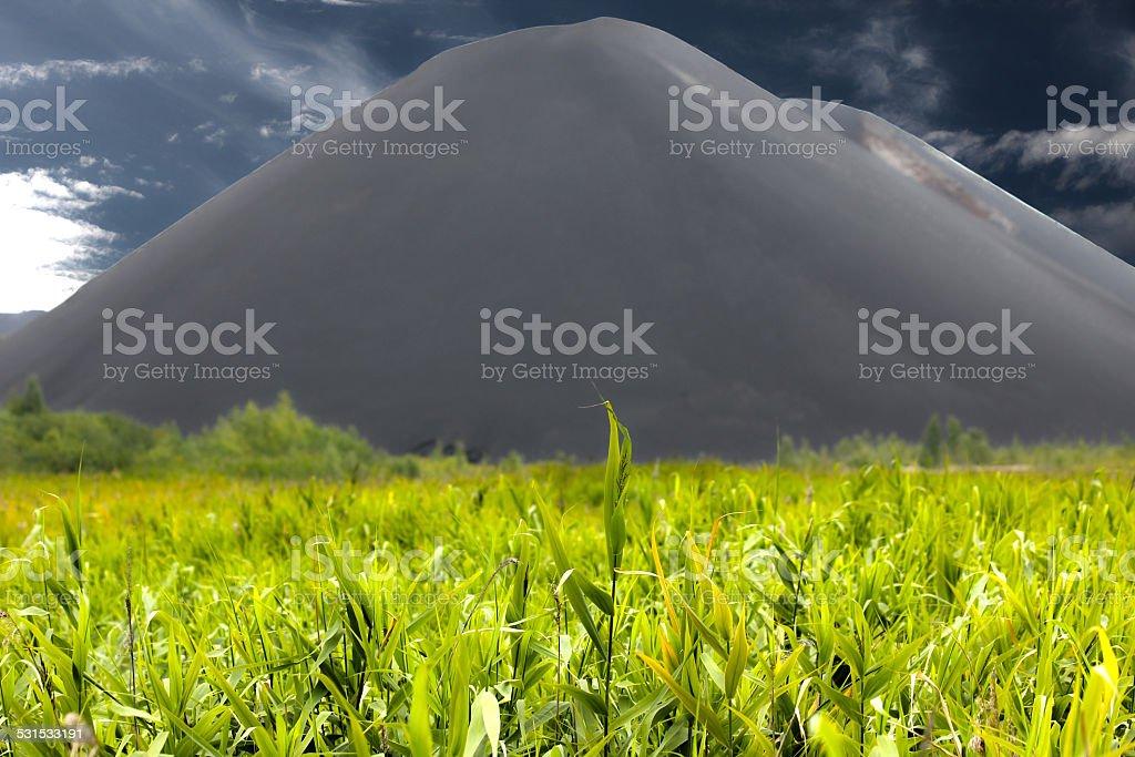 Slag heap stock photo