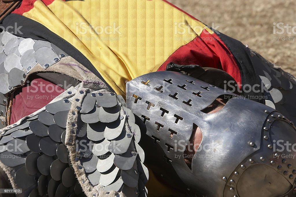 Slain Knight stock photo