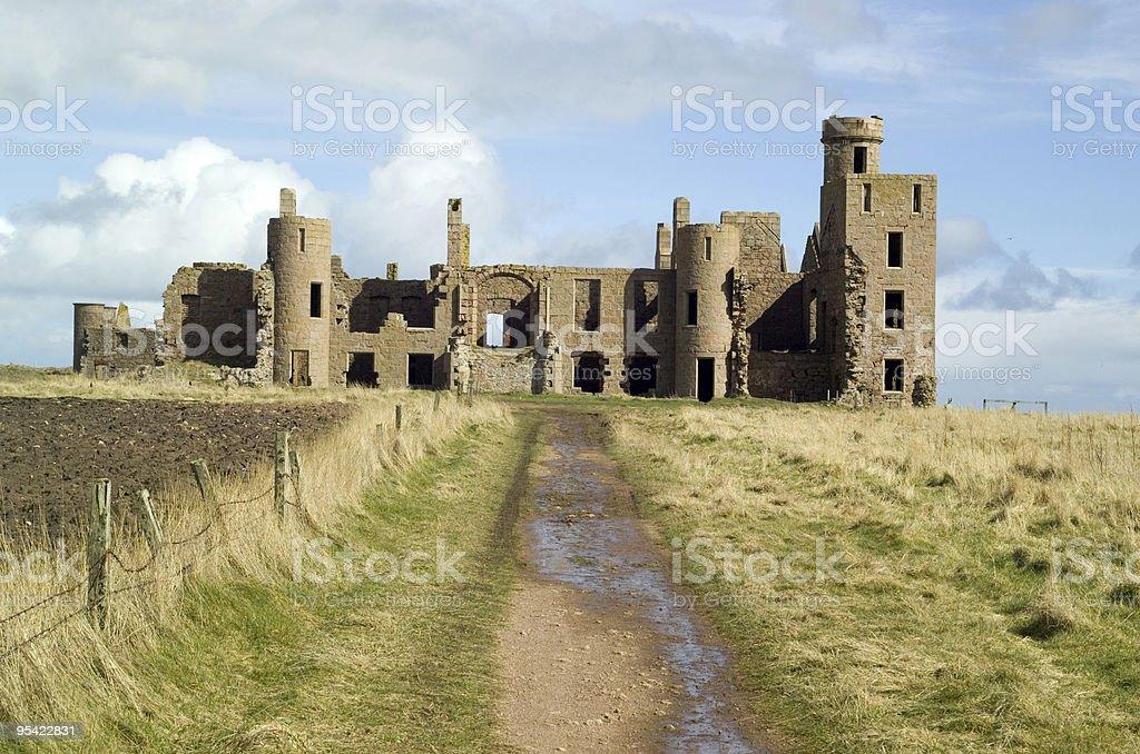 Slains Castle Scotland stock photo