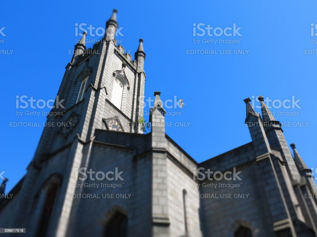 Slains Castle Spire, Belmont Street, Aberdeen, UK stock photo