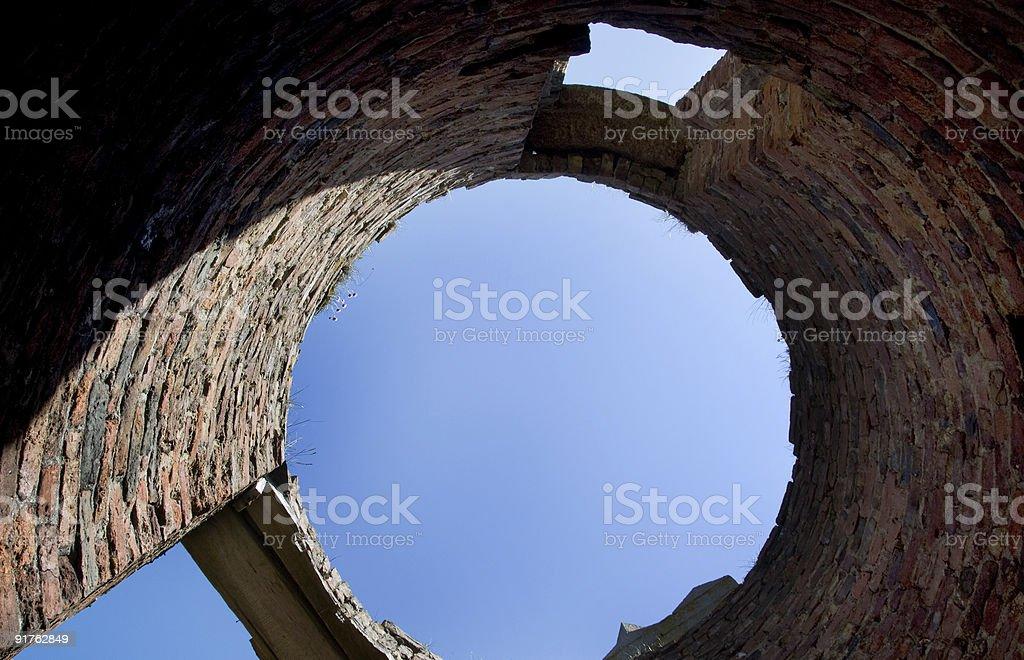 Slains Castle - Tower Detail stock photo
