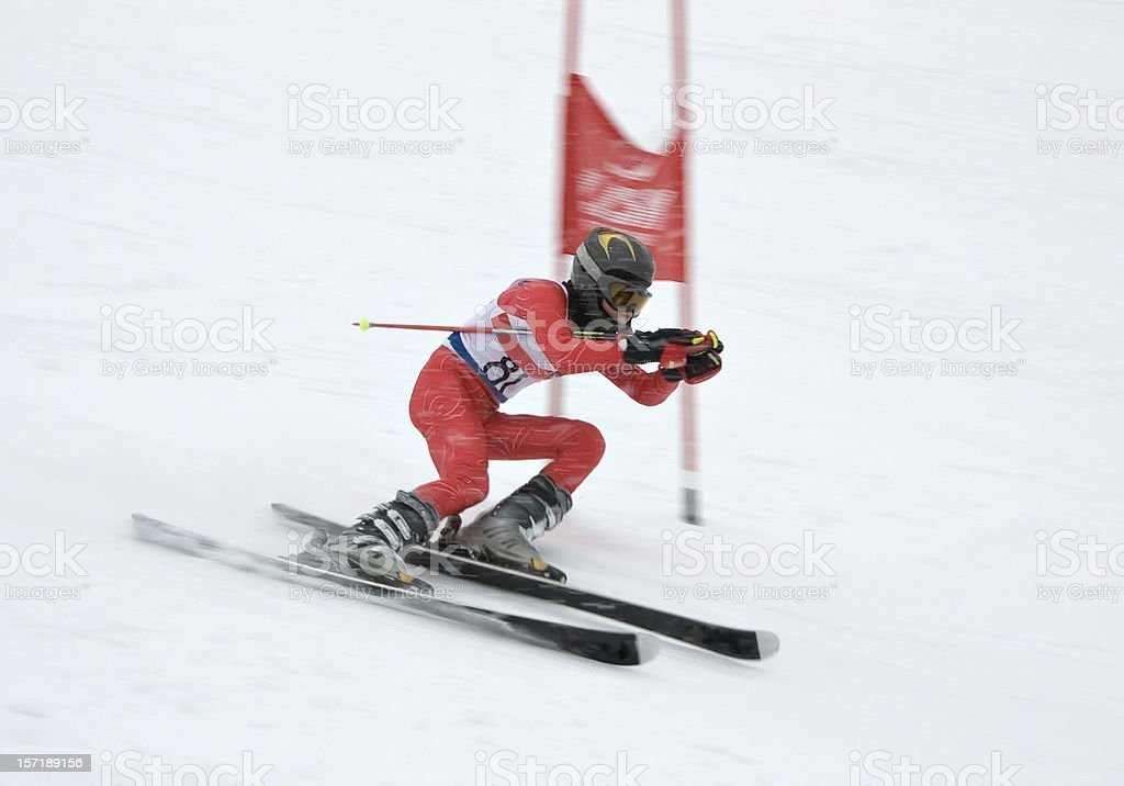 Slalom competition royalty-free stock photo