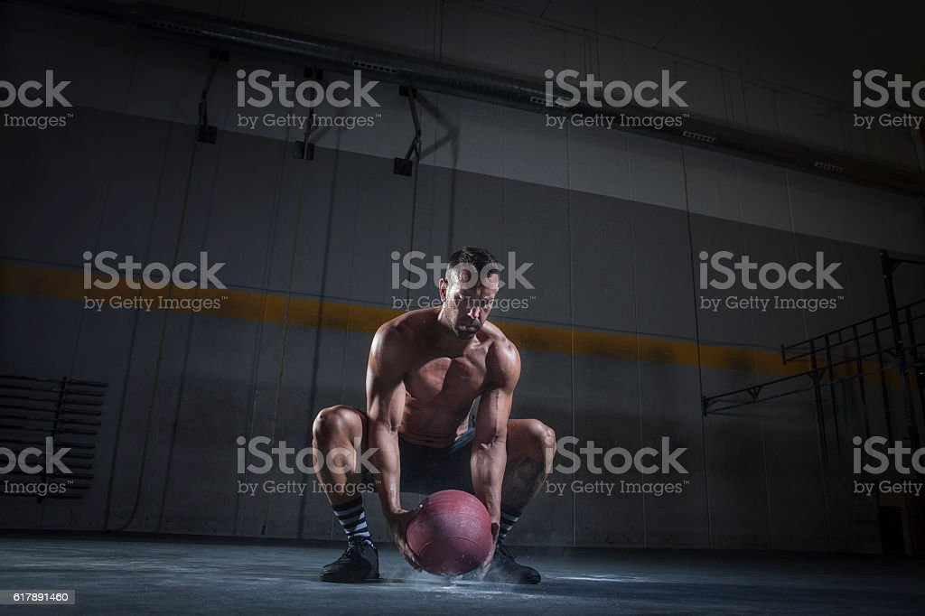 slam ball stock photo