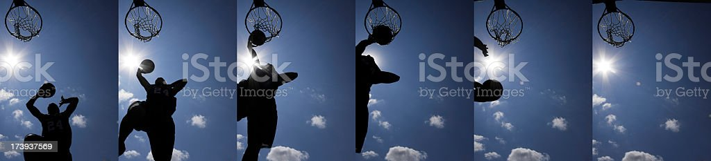 Slam Dunk montage XXXL stock photo