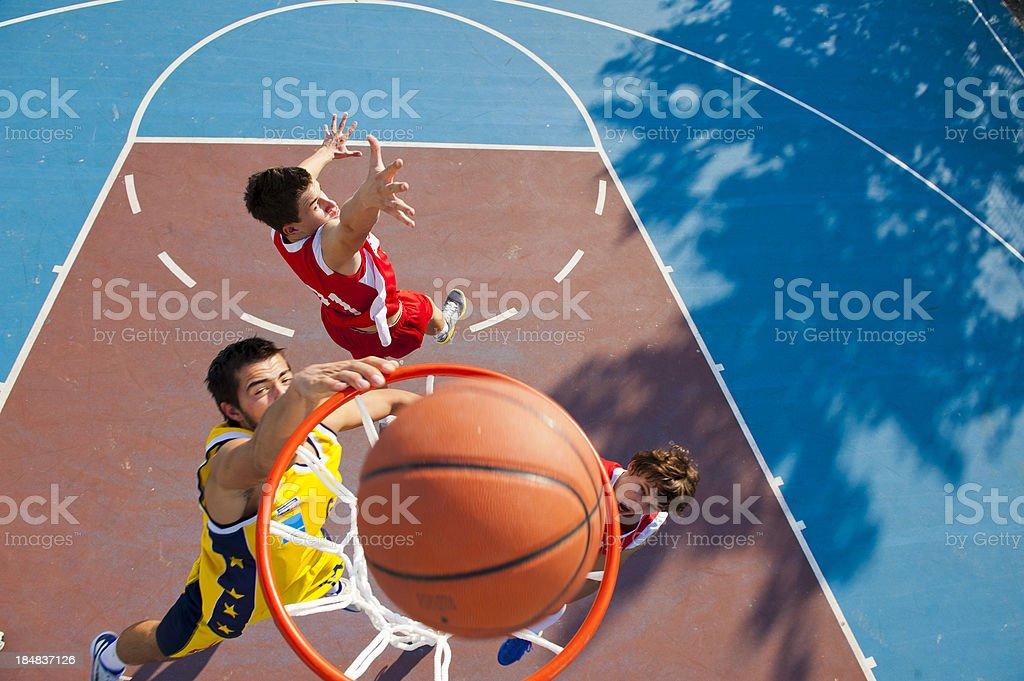 Slam dunk royalty-free stock photo