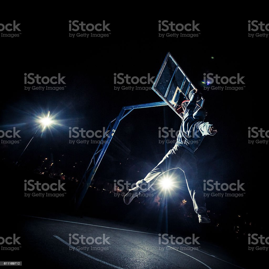 Slam dunk stock photo