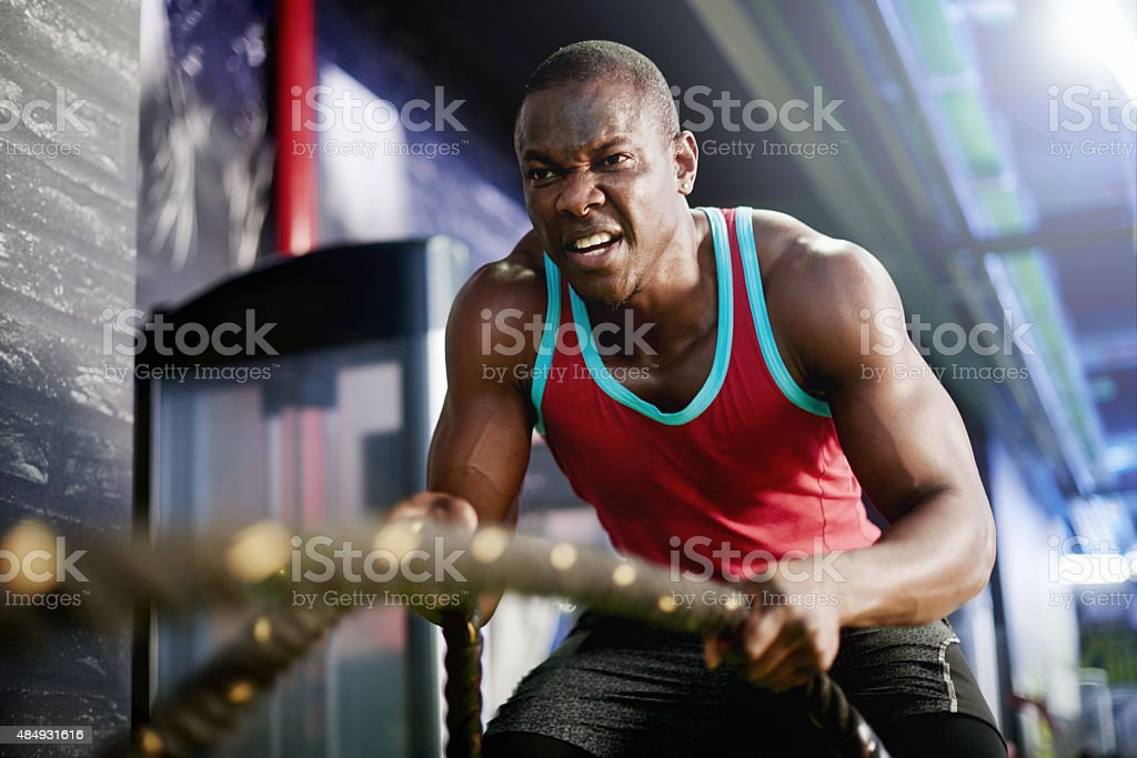 Slam your way into top shape stock photo