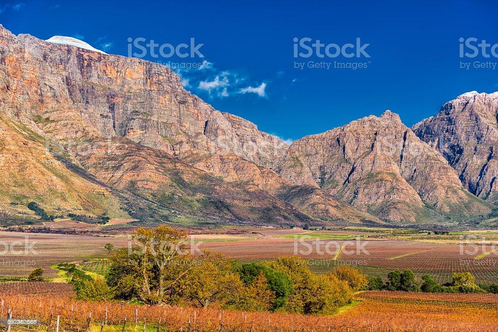 'Slanghoek' Mountains stock photo