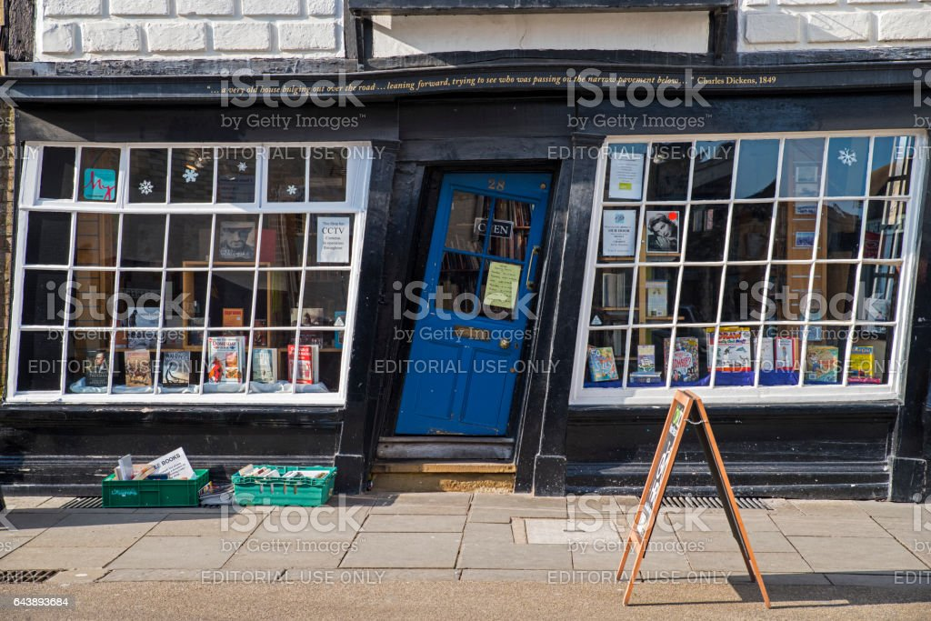 Slanted Door in Canterbury, UK stock photo
