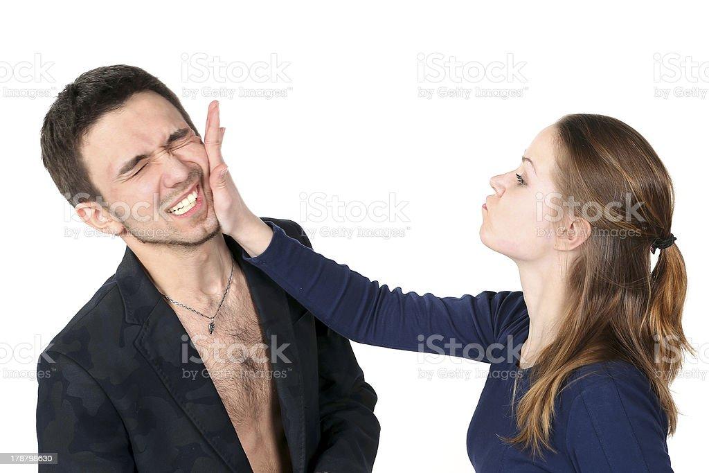 slap in the face stock photo