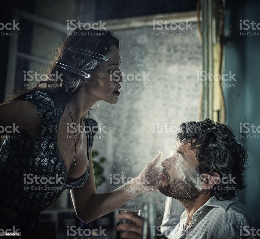 slap in the face royalty-free stock photo