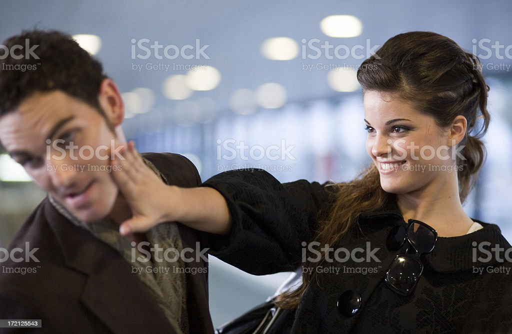 Slap! stock photo