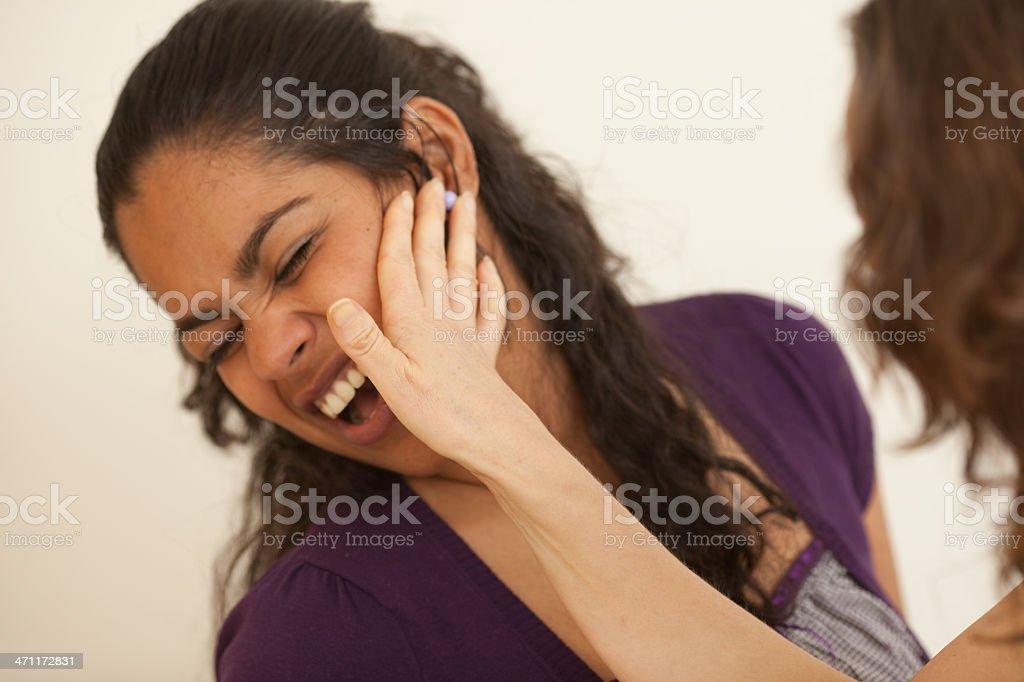Slapping stock photo