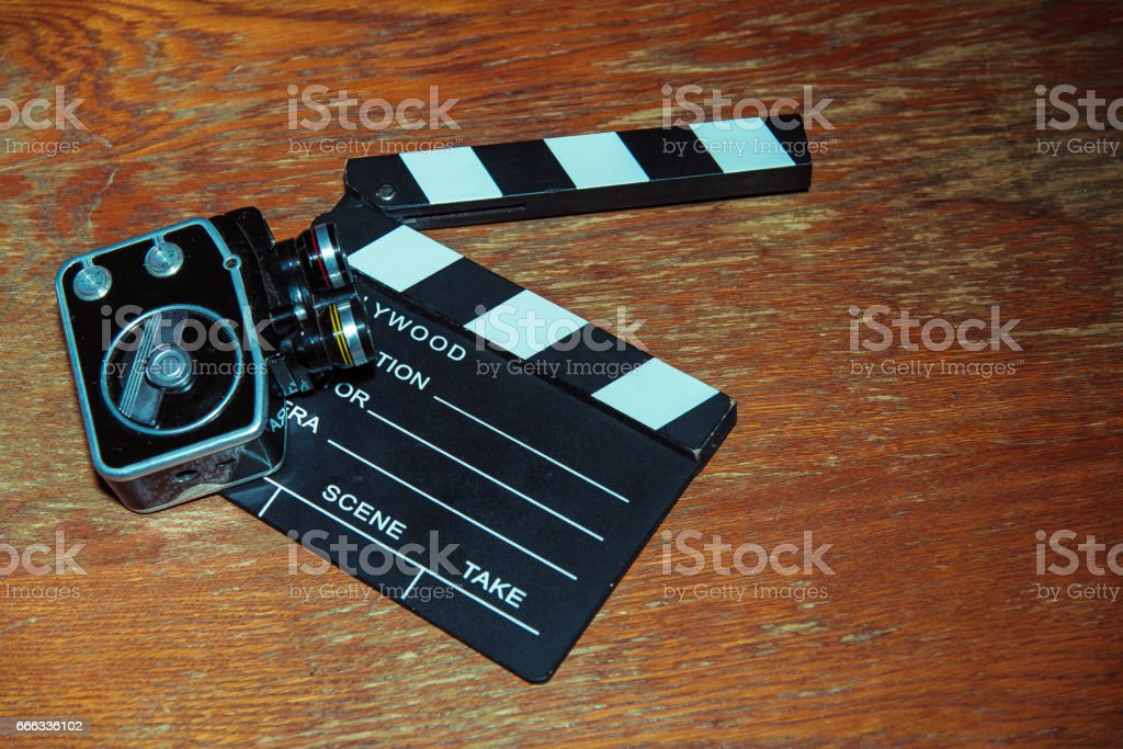 slapstick and retro camera stock photo