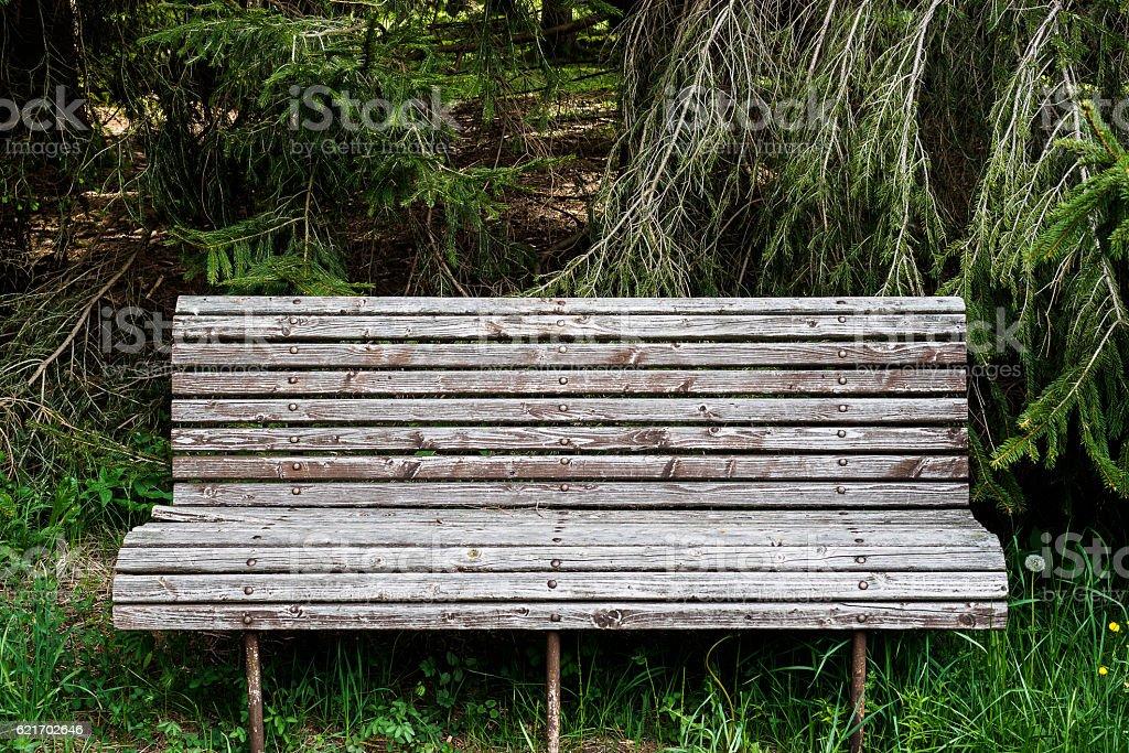 Slat bench II stock photo