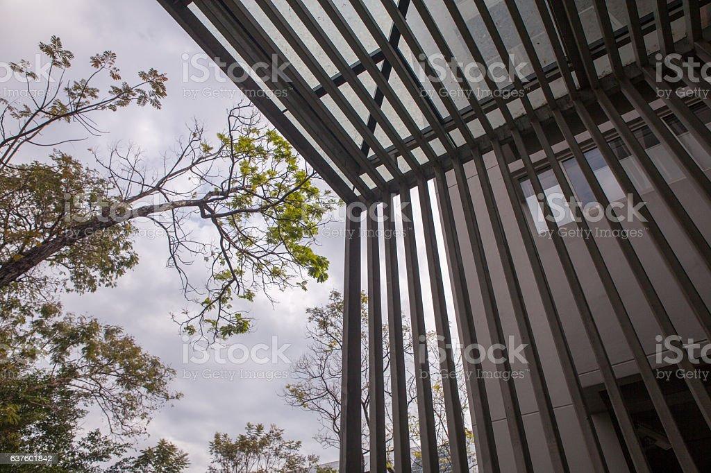 slat in modern building stock photo
