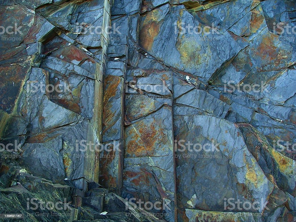 Slate cliff face royalty-free stock photo