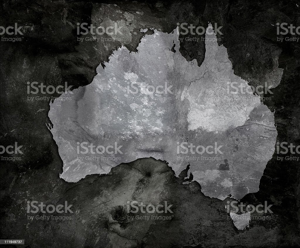 Slate map of Australia royalty-free stock photo