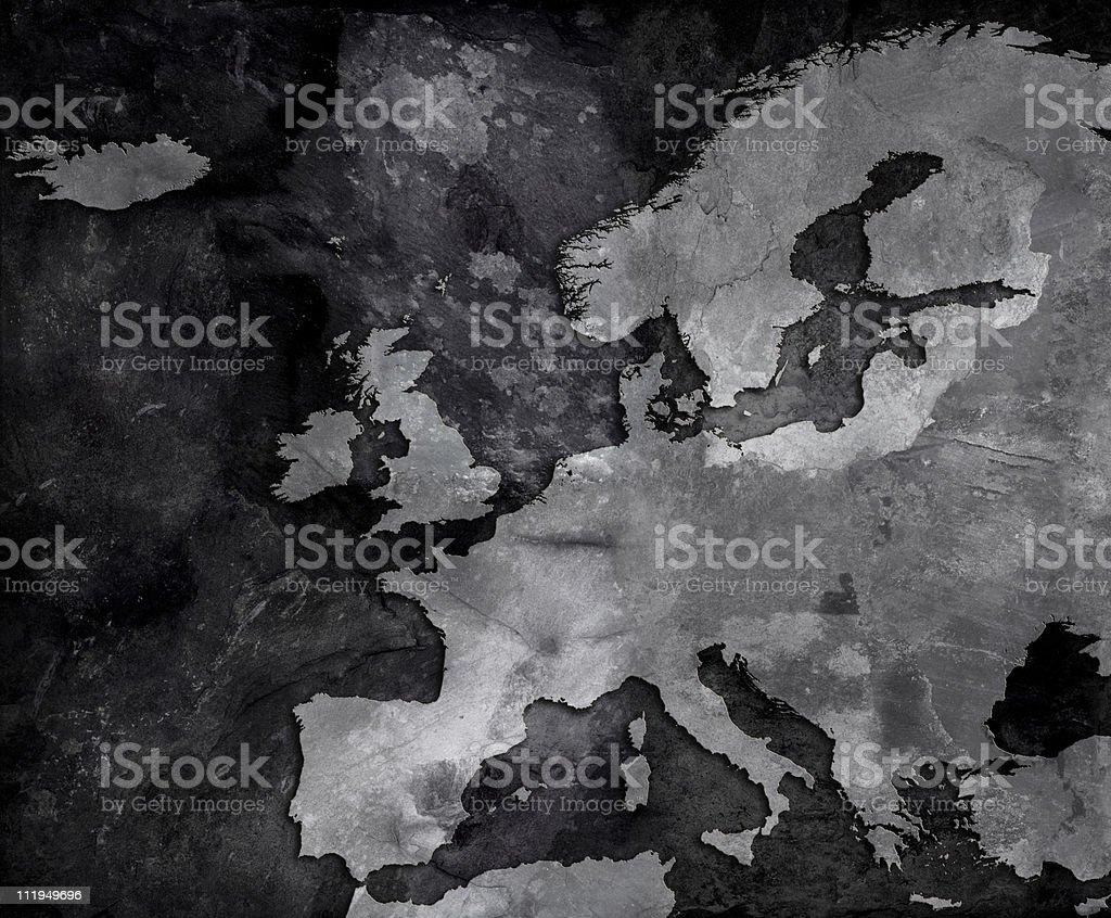 Slate map of Europe stock photo