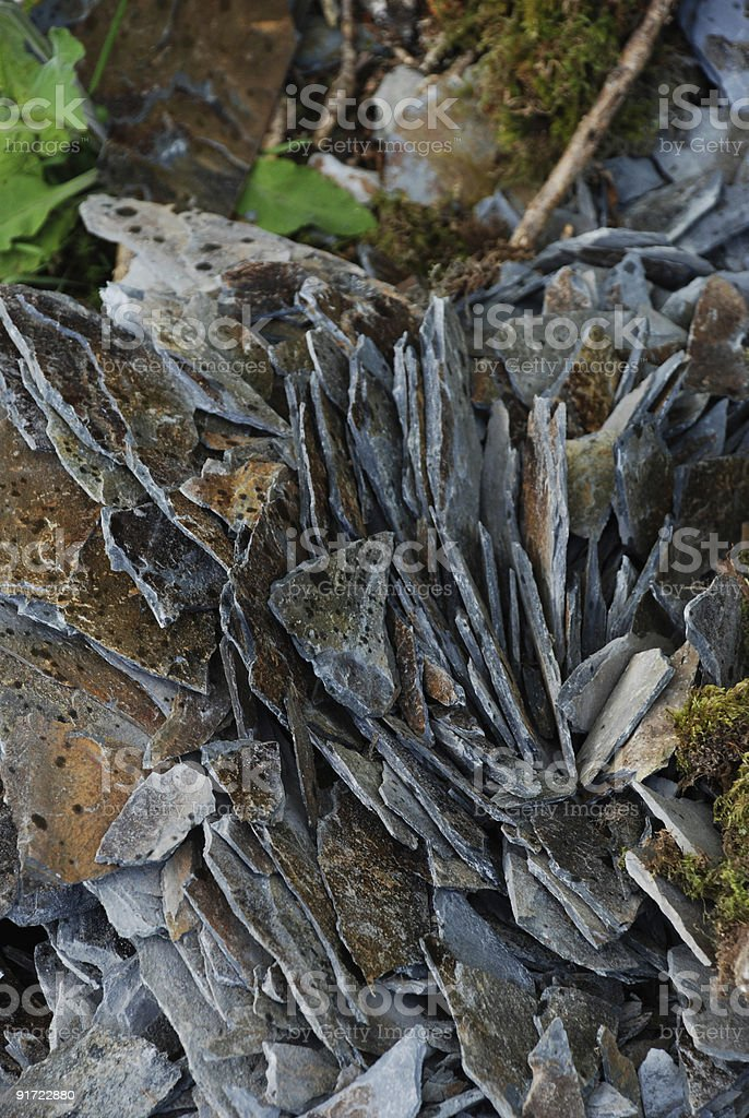 Slate Pile. royalty-free stock photo